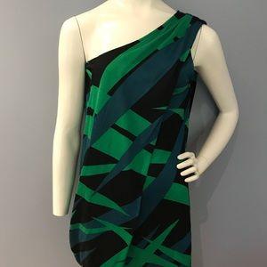 Diane Von Furstenberg one shoulder toga dress